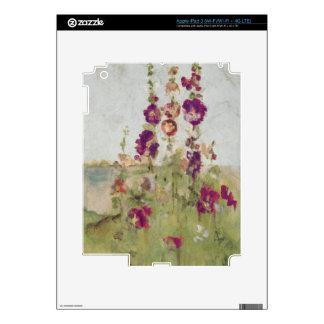 Hollyhocks by the Sea iPad 3 Skins