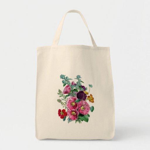 Hollyhocks de los ejemplos de Botanicals del vinta Bolsa