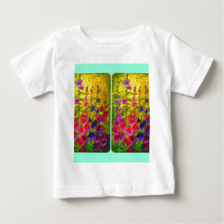 Hollyhocks Garden Windows by Sharles Baby T-Shirt