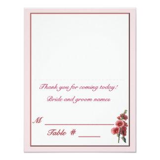 Hollyhocks Placecard Card