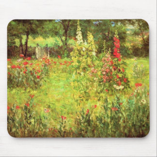 Hollyhocks & Poppies Mouse Pad