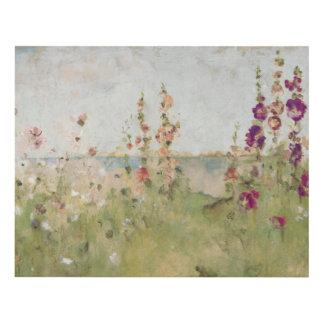 Hollyhocks por el mar cuadro
