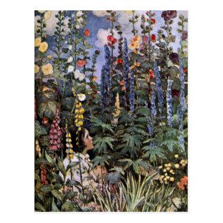 Hollyhocks Postcard