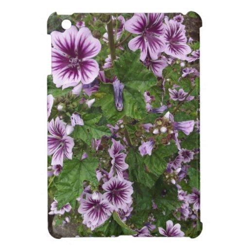 Hollyhocks púrpuras iPad mini cobertura