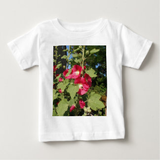 Hollyhocks rosados tee shirt