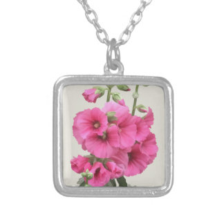 Hollyhocks Silver Plated Necklace