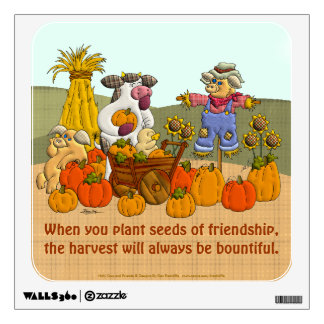 Holly's Friendship Harvest Wall Decal