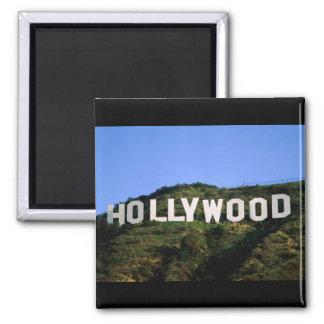hollywood-1600x1200 imán cuadrado