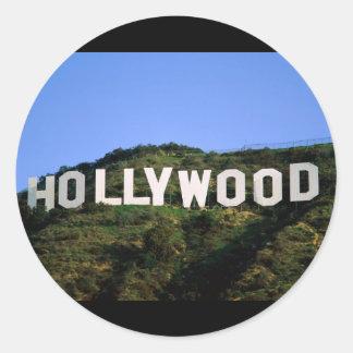 hollywood-1600x1200 classic round sticker