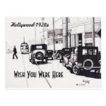 """""""Hollywood 1920s"""" Wish You Were Here Postcard"""