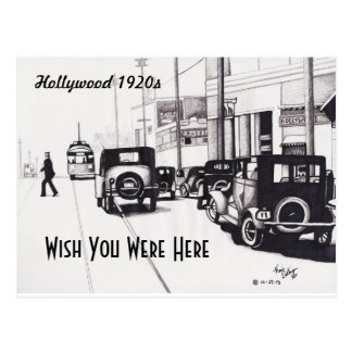 """Hollywood 1920s"" Wish You Were Here Postcard"