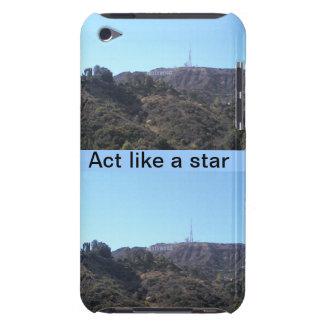 Hollywood, acto como una estrella barely there iPod cobertura