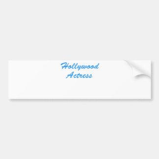 Hollywood Actress Car Bumper Sticker