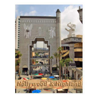Hollywood and Highland Los Angeles Postcard
