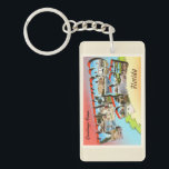 "Hollywood Beach Florida FL Vintage Travel Souvenir Keychain<br><div class=""desc"">Hollywood Beach,  Florida FL