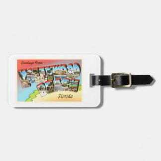 Hollywood Beach Florida FL Vintage Travel Souvenir Tag For Luggage