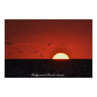 Hollywood Beach Sunset Poster