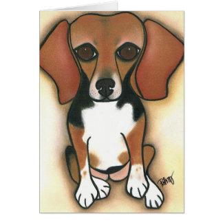 Hollywood Beagle by Robyn Feeley Card