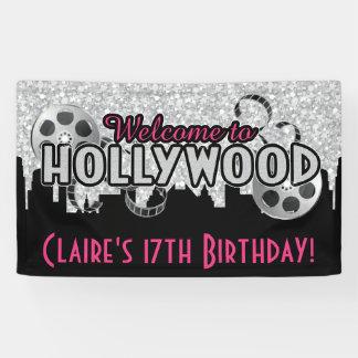 Hollywood Birthday Banner