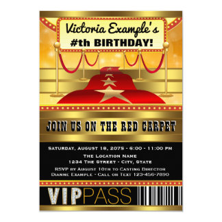 hollywood party invitations & announcements | zazzle, Party invitations