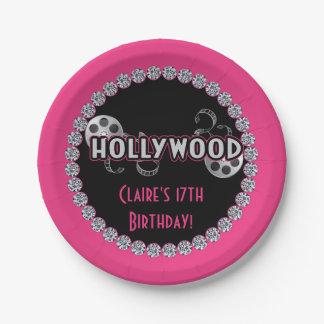 Hollywood Birthday Party Plates