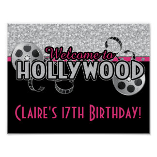 Hollywood Birthday Party Poster