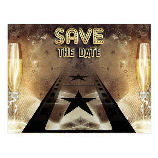 Hollywood Bling Save The Date Post Card