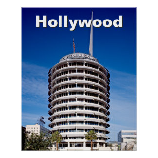 Hollywood Boulevard Capitol Records Poster