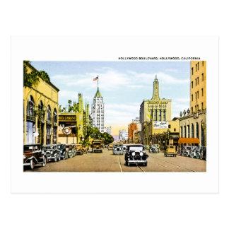 Hollywood Boulevard, Hollywood , California Postcard