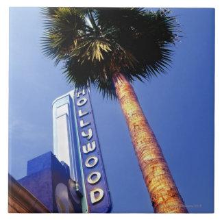 Hollywood Boulevard, Los Ángeles Azulejo Cuadrado Grande