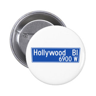 Hollywood Boulevard, Los Angeles, CA Street Sign Buttons