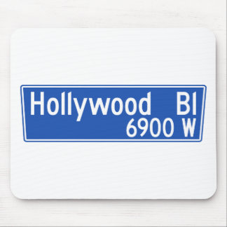 Hollywood Boulevard, Los Angeles, CA Street Sign Mouse Pad