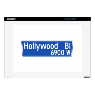 Hollywood Boulevard, Los Angeles, CA Street Sign Laptop Decal
