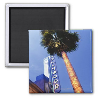 Hollywood Boulevard, Los Angeles 2 Inch Square Magnet
