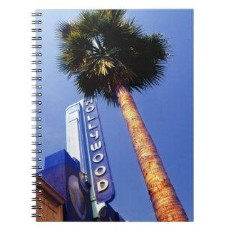 Hollywood Boulevard, Los Angeles Spiral Notebook
