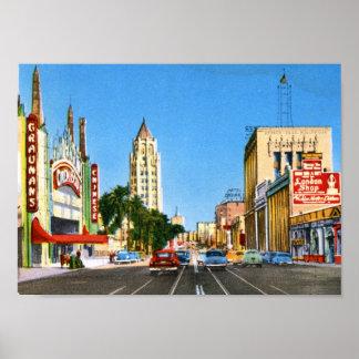 Hollywood Boulevard, Los Angeles Vintage Poster