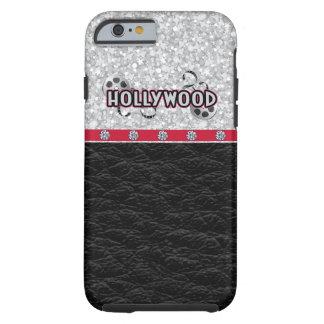 Hollywood, brillo y cuero funda resistente iPhone 6