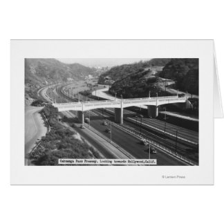 Hollywood, CA Cahuenga Pass Freeway View Cards