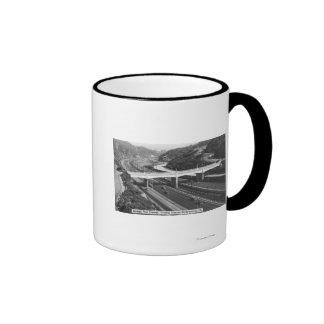 Hollywood, CA Cahuenga Pass Freeway View Ringer Mug
