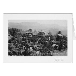 Hollywood, CA Japanese Gardens Miniature Village Card