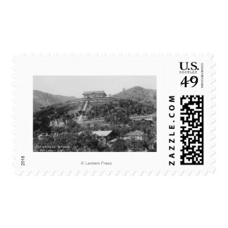 Hollywood, CA Japanese Gardens View Photograph Stamp