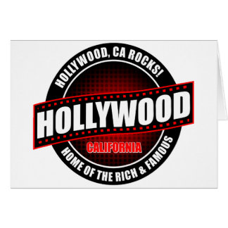 Hollywood, Ca. Rocks! Home Of The Rich & Famous Card