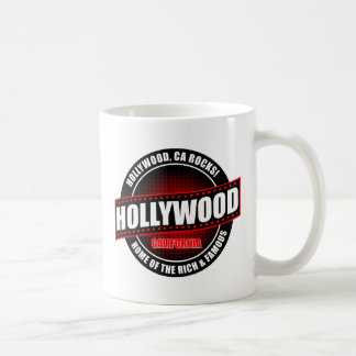 Hollywood, Ca. Rocks! Home Of The Rich & Famous Classic White Coffee Mug