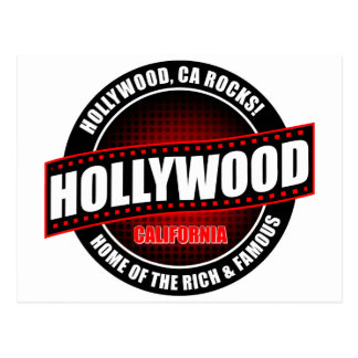 Hollywood, Ca. Rocks! Home Of The Rich & Famous Postcard