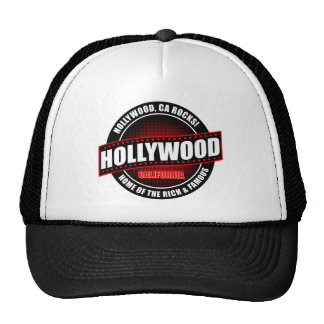 Hollywood, Ca. Rocks! Home Of The Rich & Famous Trucker Hat