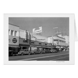 Hollywood, CA Town View Tom Breneman's Card