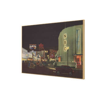 Hollywood, CA - Vine Street from Sunset Canvas Print