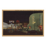 Hollywood, CA - Vine Street from Sunset Print