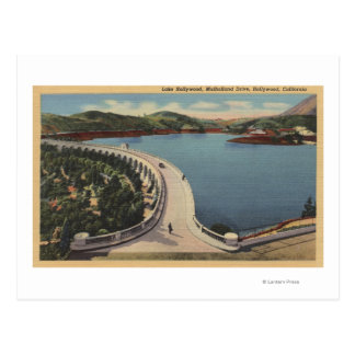 Hollywood, CALake Hollywood & Mulholland Drive Postcard