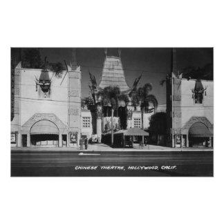 Hollywood California Chinese Theatre View Print